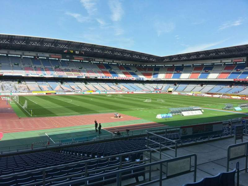 Seating view for Nissan Stadium (Yokohama) Section Lower Stand Row 22 Seat 128