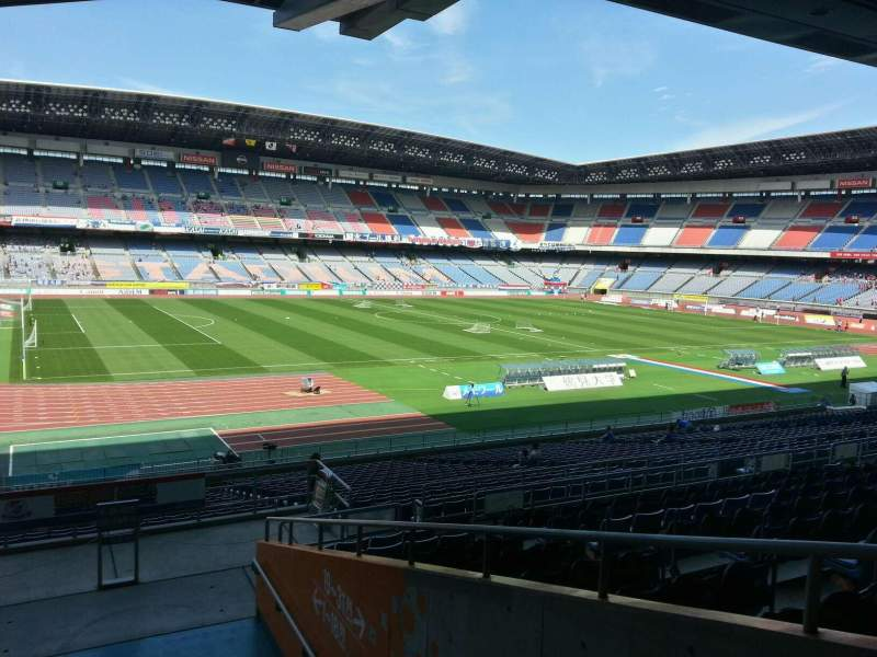 Seating view for Nissan Stadium (Yokohama) Section Lower Stand Row 28 Seat 227