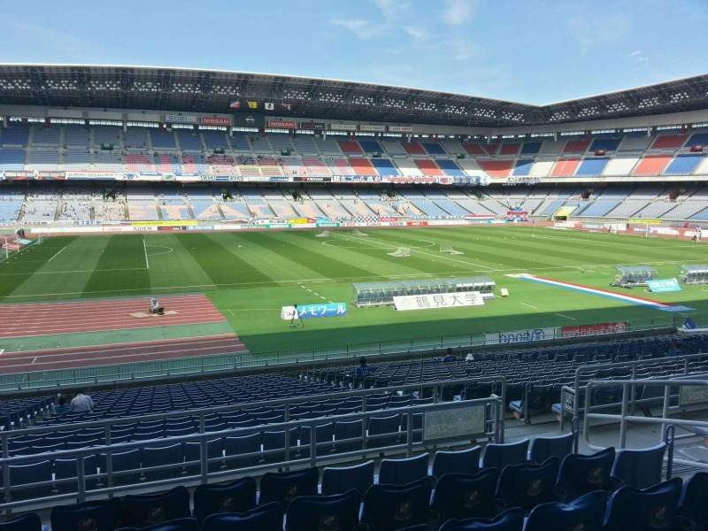Seating view for Nissan Stadium (Yokohama) Section Lower Stand Row 24 Seat 266