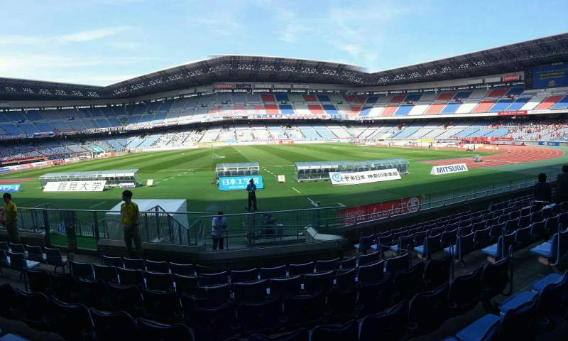 Seating view for Nissan Stadium (Yokohama) Section Lower Stand Row 10 Seat 408