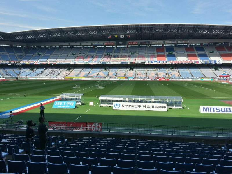 Seating view for Nissan Stadium (Yokohama) Section Lower Stand Row 14 Seat 438