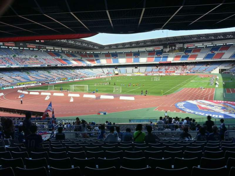 Seating view for Nissan Stadium (Yokohama) Section Lower Stand Row 29 Seat 450