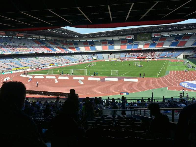 Seating view for Nissan Stadium (Yokohama) Section Lower Stand Row 29 Seat 423