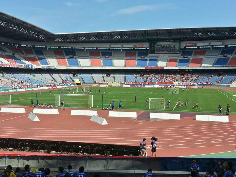 Seating view for Nissan Stadium (Yokohama) Section Lower Stand Row 19 Seat 384