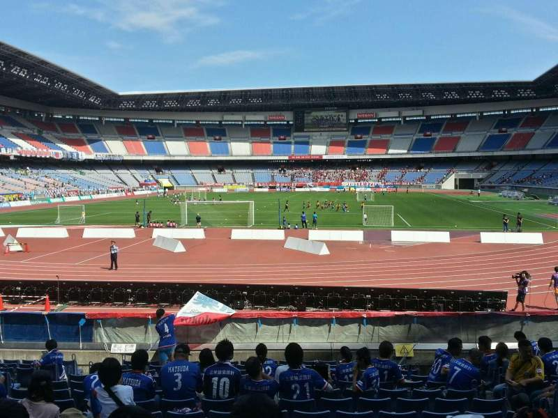 Seating view for Nissan Stadium (Yokohama) Section Lower Stand Row 16 Seat 360