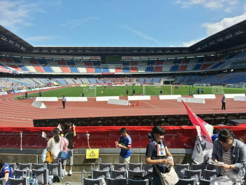 Seating view for Nissan Stadium (Yokohama) Section Lower Stand Row 8 Seat 222