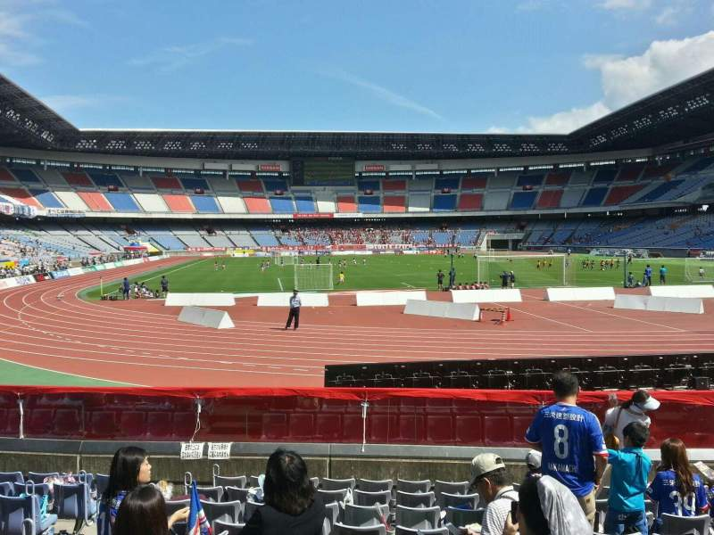 Seating view for Nissan Stadium (Yokohama) Section Lower Stand Row 10 Seat 206