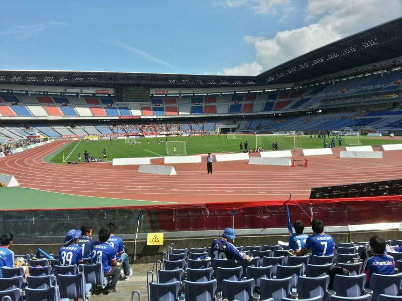 Seating view for Nissan Stadium (Yokohama) Section Lower Stand Row 10 Seat 142