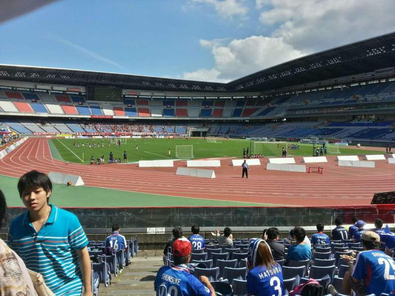 Seating view for Nissan Stadium (Yokohama) Section Lower Stand Row 13 Seat 121
