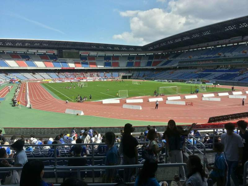 Seating view for Nissan Stadium (Yokohama) Section Lower Stand Row 23 Seat 114