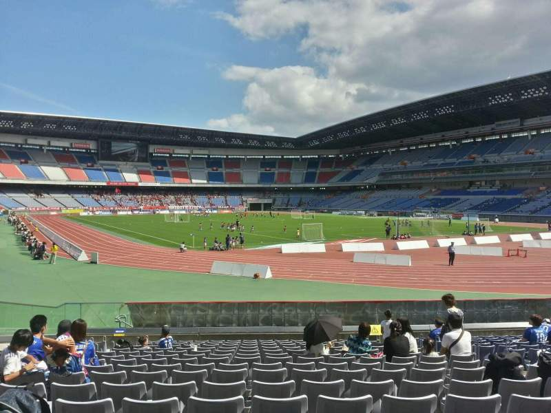 Seating view for Nissan Stadium (Yokohama) Section Lower Stand Row 15 Seat 38