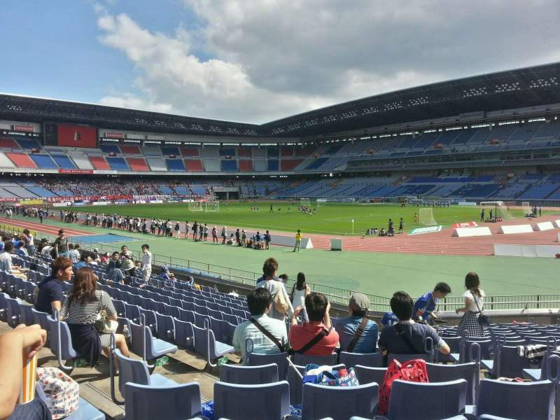 Seating view for Nissan Stadium (Yokohama) Section Lower Stand Row 14 Seat 656