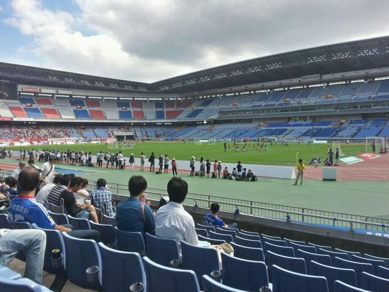 Seating view for Nissan Stadium (Yokohama) Section Lower Stand Row 8 Seat 610