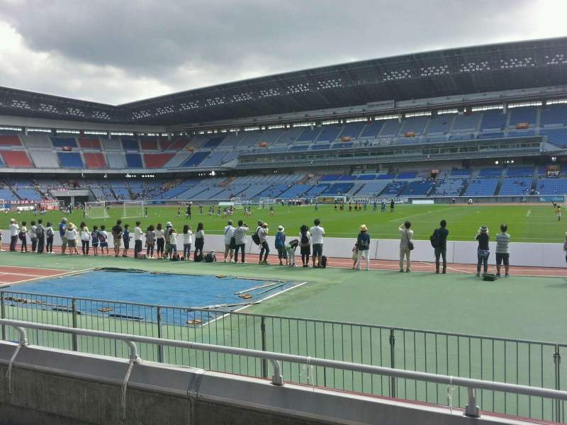 Seating view for Nissan Stadium (Yokohama) Section Lower Stand Row 4 Seat 541