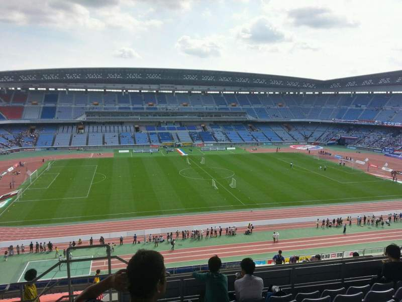 Seating view for Nissan Stadium (Yokohama) Section Upper Stand Row 20 Seat 301