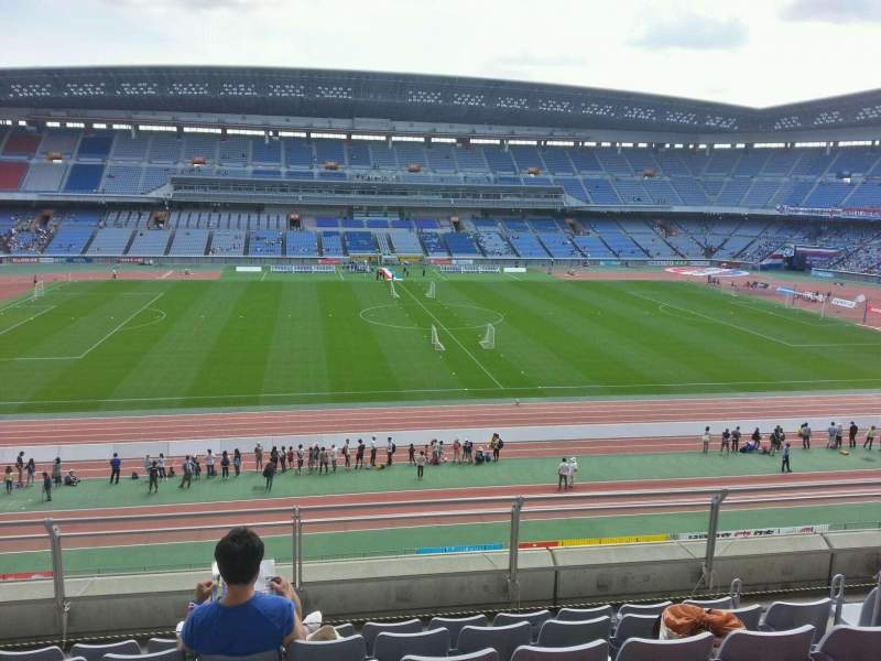 Seating view for Nissan Stadium (Yokohama) Section Upper Stand Row 6 Seat 330