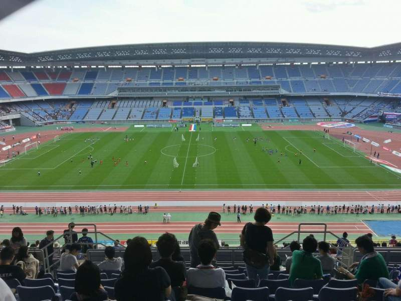 Seating view for Nissan Stadium (Yokohama) Section Upper Stand Row 23 Seat 407