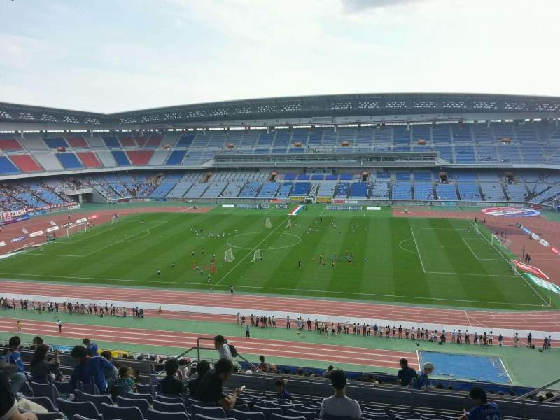 Seating view for Nissan Stadium (Yokohama) Section Upper Stand Row 24 Seat 468