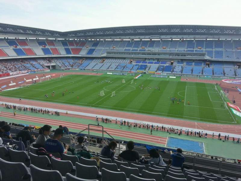Seating view for Nissan Stadium (Yokohama) Section Upper Stand Row 22 Seat 508