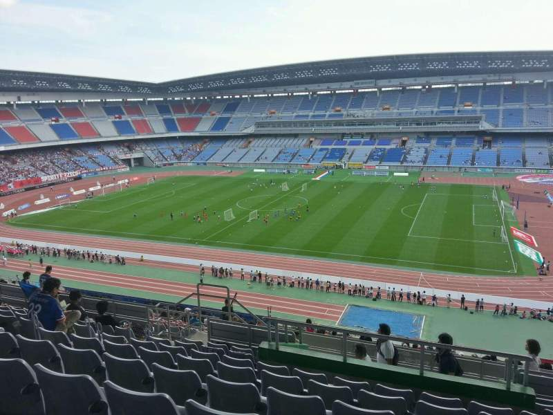 Seating view for Nissan Stadium (Yokohama) Section Upper Stand Row 22 Seat 530