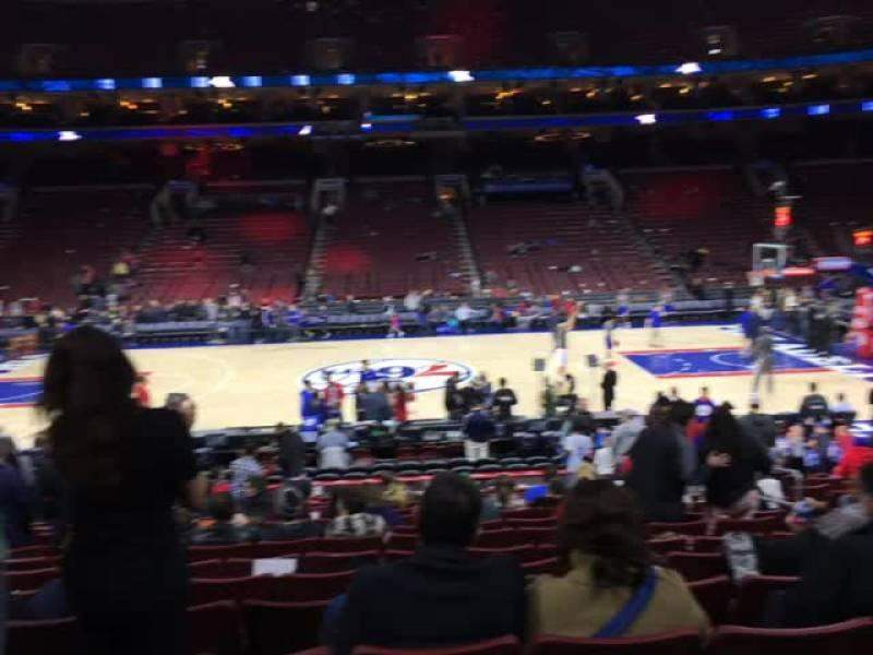 Seating view for Wells Fargo Center Section 101 Row 15 Seat 10