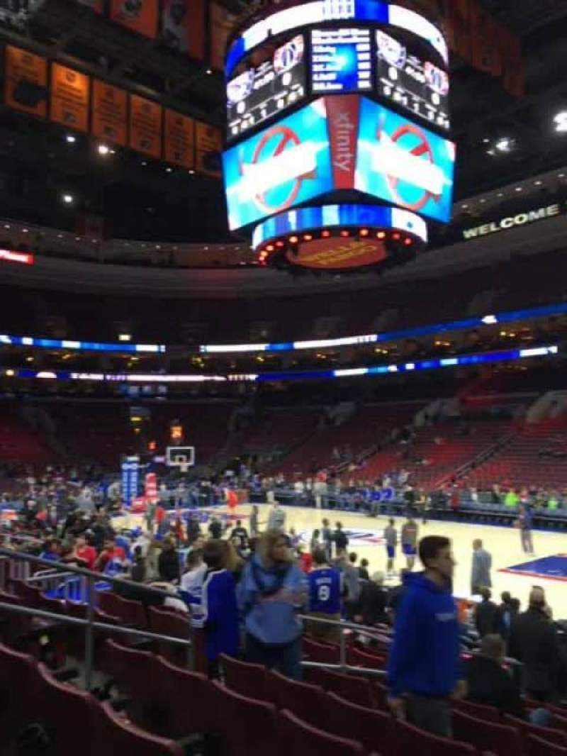 Seating view for Wells Fargo Center Section 103 Row 11 Seat 8