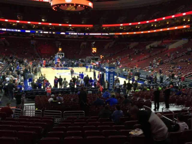 Seating view for Wells Fargo Center Section 106 Row 12 Seat 6