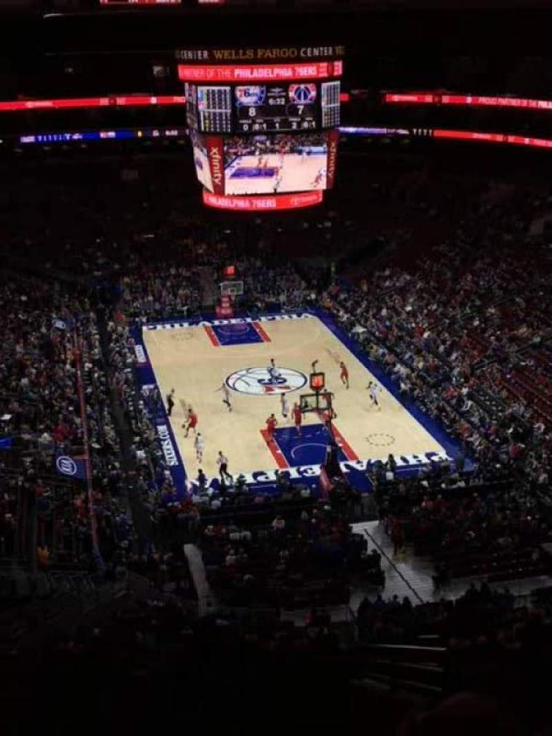 Seating view for Wells Fargo Center Section 206 Row 12 Seat 15