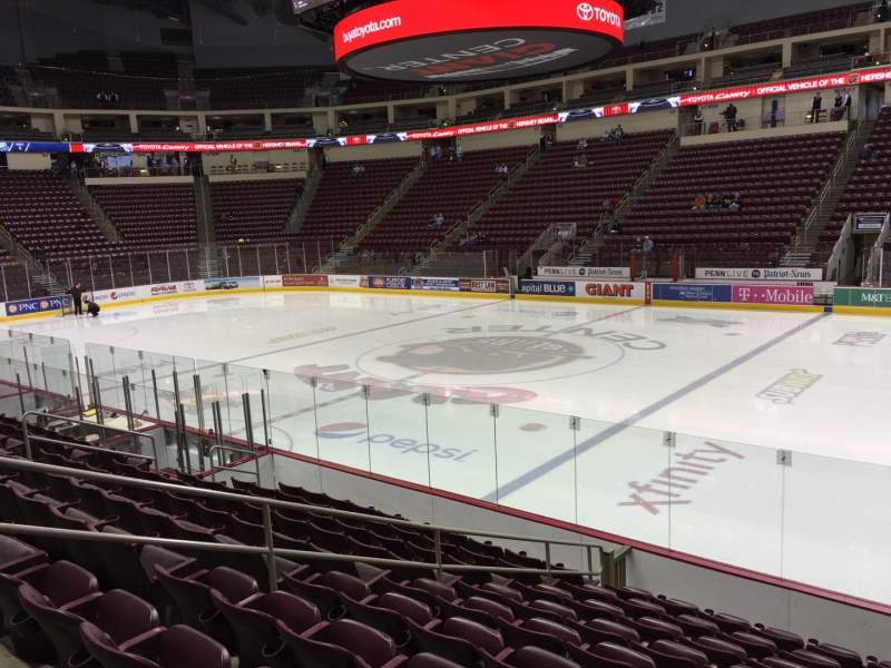 Seating view for Giant Center Section 108 Row K Seat 1
