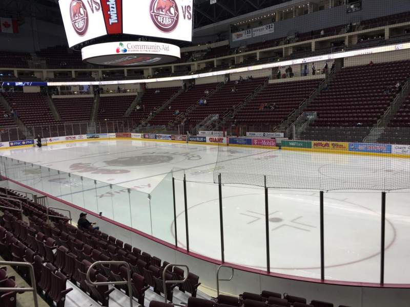 Seating view for Giant Center Section 110 Row K Seat 4