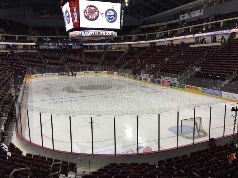 Seating view for Giant Center Section 112 Row N Seat 8