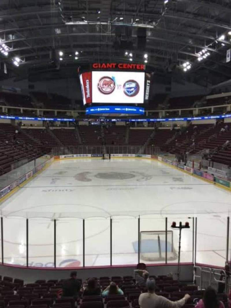 Seating view for Giant Center Section 113 Row P Seat 7