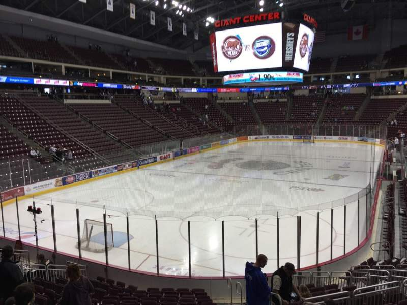 Seating view for Giant Center Section 115 Row Q Seat 3