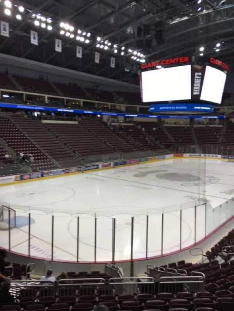 Seating view for Giant Center Section 116 Row Q Seat 7