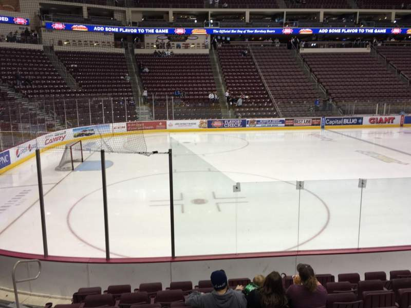Seating view for Giant Center Section 118 Row H Seat 10