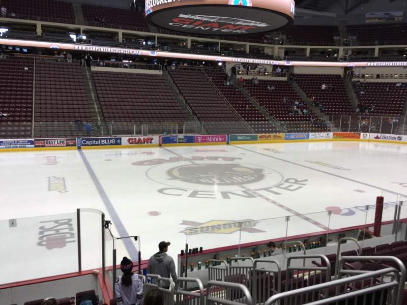 Seating view for Giant Center Section 119 Row K Seat 9