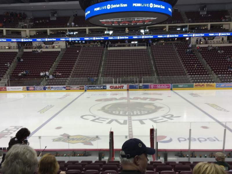 Seating view for Giant Center Section 120 Row M Seat 11