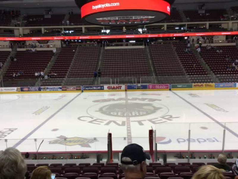 Seating view for Giant Center Section 120 Row M Seat 10
