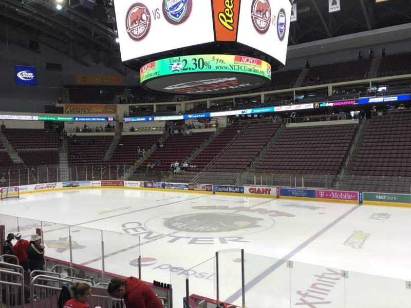 Seating view for Giant Center Section 121 Row K Seat 4