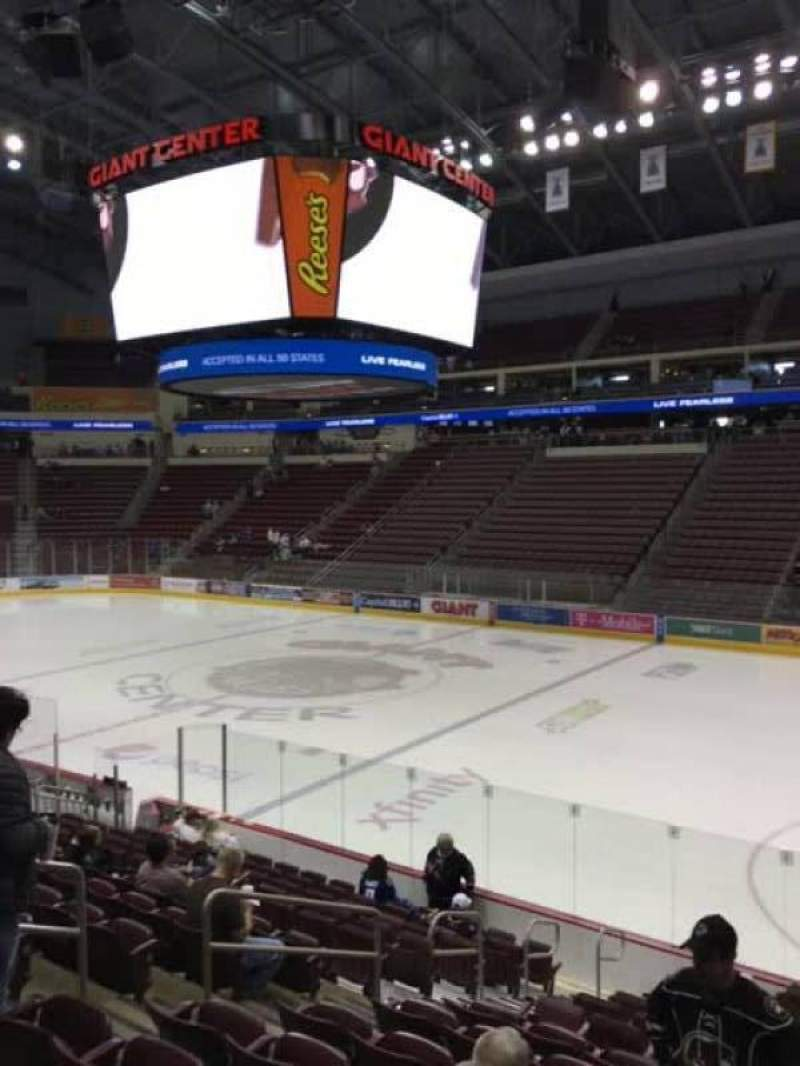 Seating view for Giant Center Section 122 Row N Seat 11