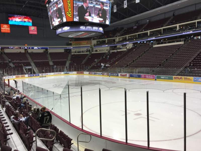 Seating view for Giant Center Section 123 Row H Seat 11