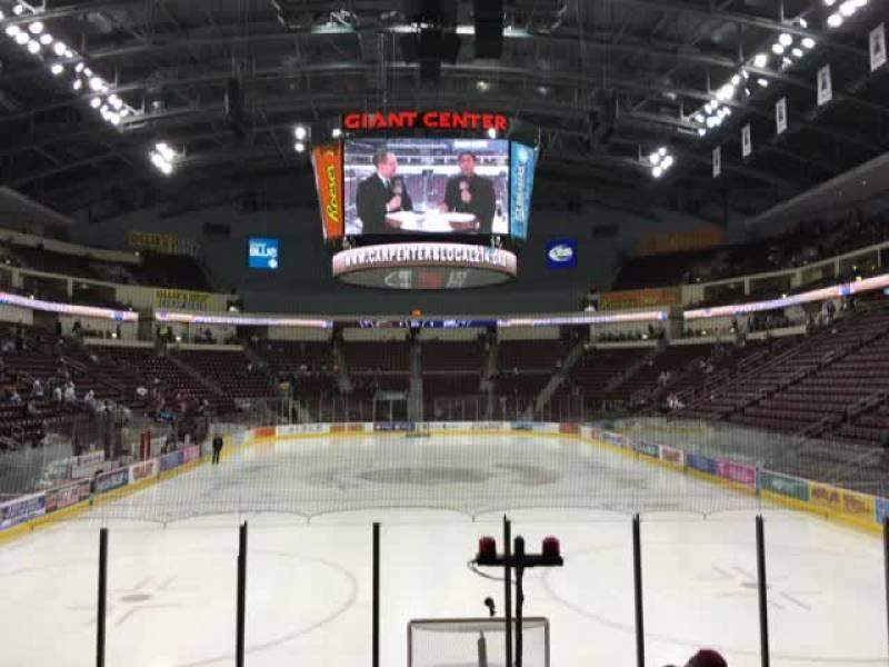 Seating view for Giant Center Section 126 Row J Seat 1