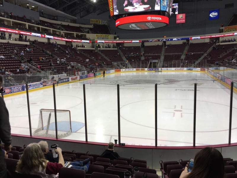 Seating view for Giant Center Section 101 Row H Seat 1