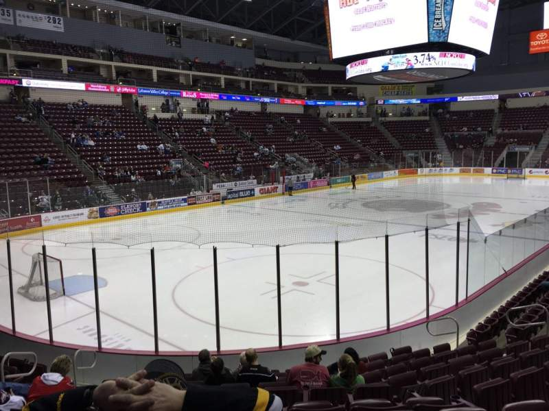 Seating view for Giant Center Section 103 Row L Seat 4