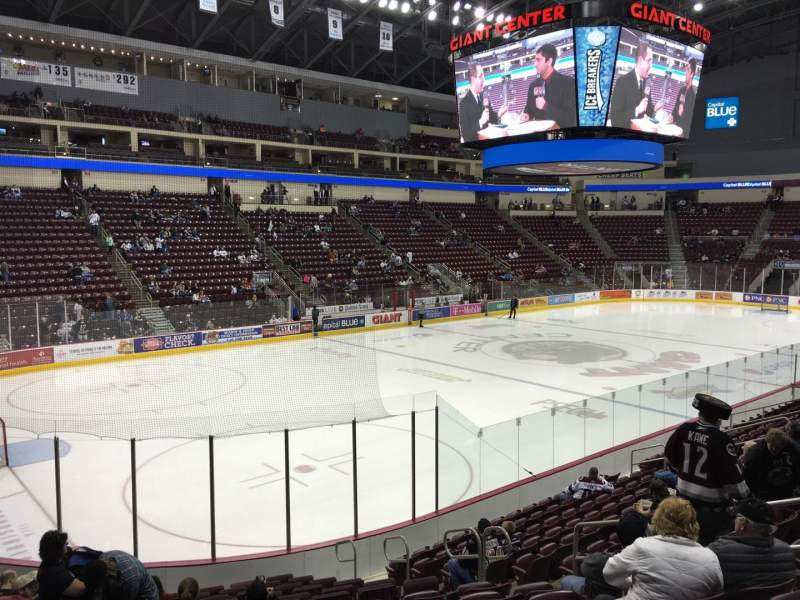 Seating view for Giant Center Section 104 Row P Seat 8