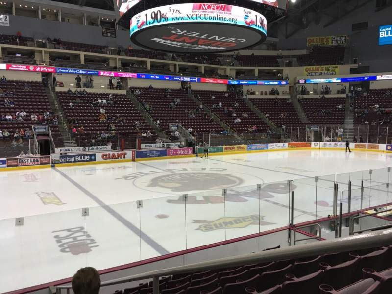 Seating view for Giant Center Section 106 Row J Seat 2