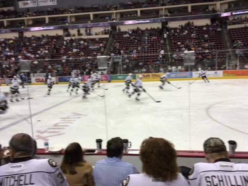 Seating view for Giant Center Section 108 Row D Seat 4