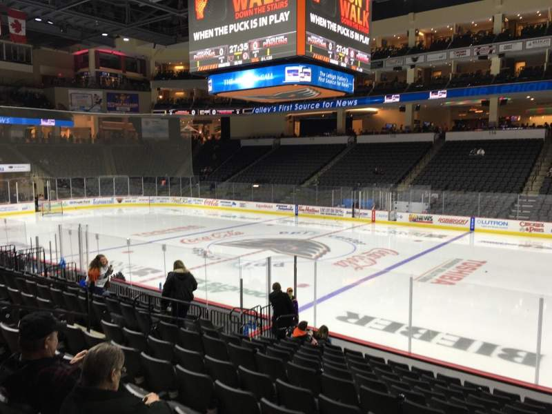 Seating view for PPL Center Section 103 Row 12 Seat 9