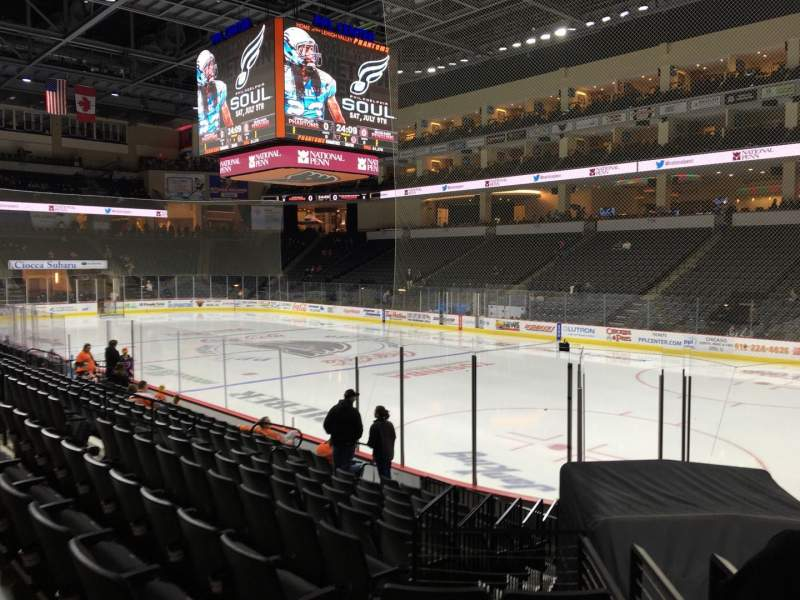 Seating view for PPL Center Section 101 Row 11 Seat 17