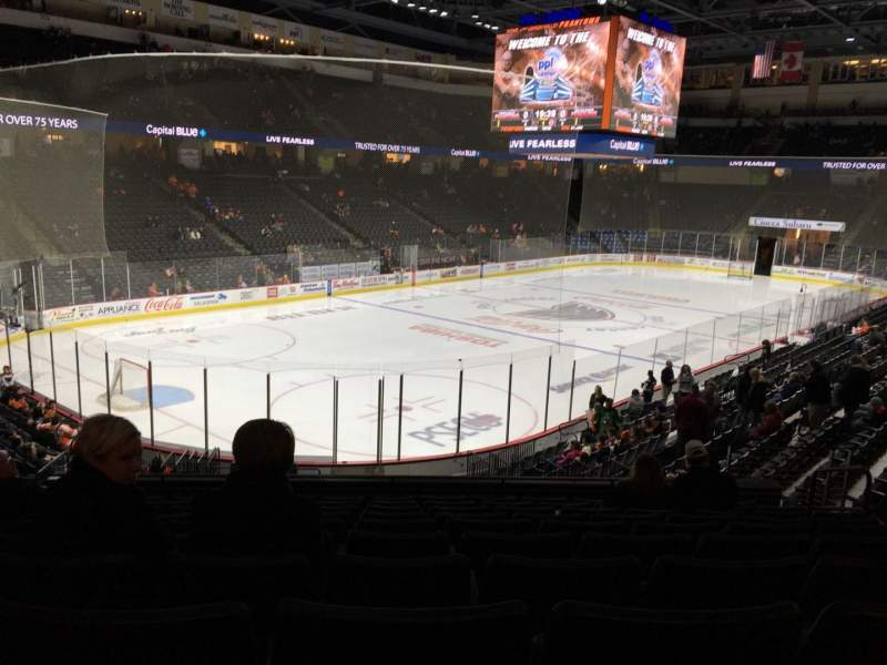 Seating view for PPL Center Section 119 Row 20 Seat 8